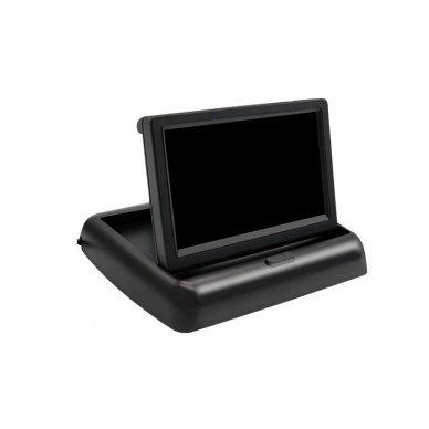 LCD 4.3 colių auto išvažiuojantis monitorius parkavimo sistemoms ir DVD 12V 7