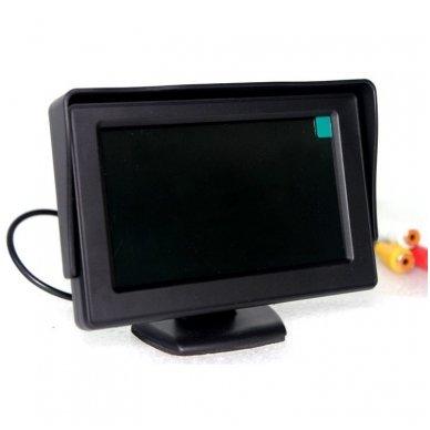 LCD 4.3 colių auto monitorius parkavimo sistemoms ir DVD 12V 2