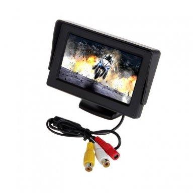 LCD 4.3 colių auto monitorius parkavimo sistemoms ir DVD 12V 3