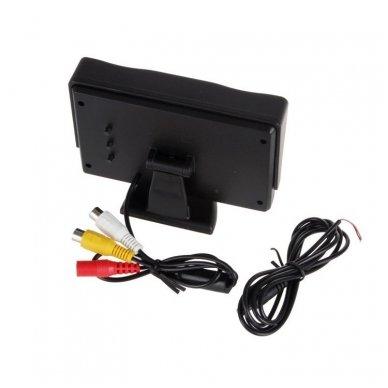 LCD 4.3 colių auto monitorius parkavimo sistemoms ir DVD 12V 4