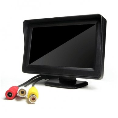 LCD 4.3 colių auto monitorius parkavimo sistemoms ir DVD 12V 6