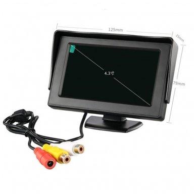 LCD 4.3 colių auto monitorius parkavimo sistemoms ir DVD 12V 8