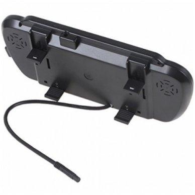 LCD 7.0 colių auto monitorius galinio matymo veidrodėlyje parkavimo sistemoms ir DVD 12V-24V 7
