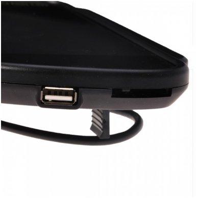 LCD 7.0 colių MP5 Bluetooth USB SD auto monitorius galinio matymo veidrodėlyje parkavimo sistemoms ir DVD 12V-24V 6