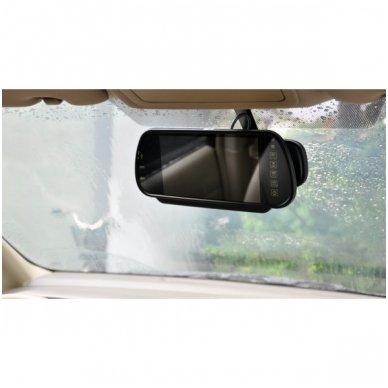 LCD 7.0 colių MP5 Bluetooth USB SD auto monitorius galinio matymo veidrodėlyje parkavimo sistemoms ir DVD 12V-24V 7