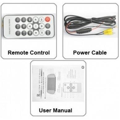 LCD 7.0 colių MP5 Bluetooth USB SD auto monitorius galinio matymo veidrodėlyje parkavimo sistemoms ir DVD 12V-24V 8