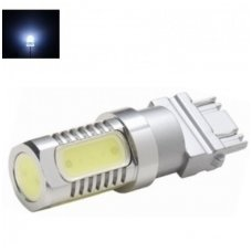 LED 3157 - 7,5w 3+1SMD, 12v-24v keturių kontaktų amerikietiškų automobilių lemputė balta