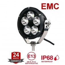 LED apvalus sertifikuotas žibintas 50W 5000LM 12-24V (E13 00 HR PL) SPOT