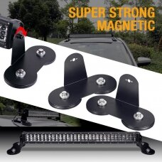 """LED BAR super magnetų 66mm  žibinto tvirtinimo laikiklių komplektas """"SMALL SIZE"""""""