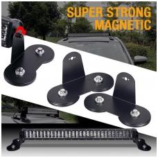 LED BAR super magnetų žibinto tvirtinimo laikiklių komplektas