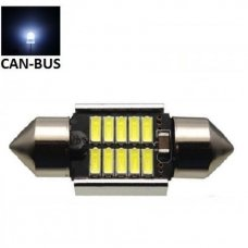 LED CAN BUS lemputė F10 / C5W 28 mm - 10 LED