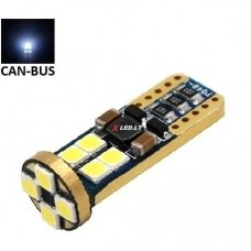 LED CAN BUS lemputė T10 / W5W - 12 LED balta