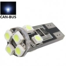 LED CAN BUS lemputė T10 / W5W - 8 LED