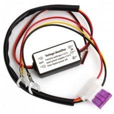 LED dienos žibinto DRL valdymo rėlė jungiama nuo akumuliatoriaus 12v, ON <13V, OFF >13V