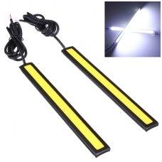 LED DRL COB 6w*2, 14cm dienos žibintas klijuojamas