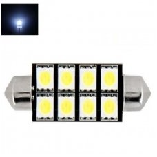 Led F10 / c5w 42mm lemputė - 8 LED
