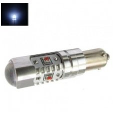 Led lemputė BA9s H21W - 5W, 5 CREE LED su lęšiu balta
