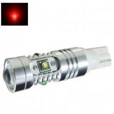 Led lemputė T10 / T15, W16W - 5W, 5 CREE LED su lęšiu raudona