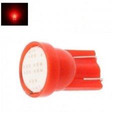 Led lemputė T10 / W5W - 1 COB LED raudona