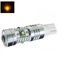 Led lemputė T15 WY16W / W16W - 5W, 5 CREE LED su lęšiu geltona
