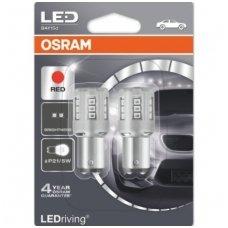 Led lemputės P21/5W OSRAM RED STANDARD 12V 3W, 1457R-02B, 4052899358058