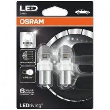 Led lemputės P21W OSRAM COOL WHITE PREMIUM 12V 2W, 7556CW-02B, 4052899367760
