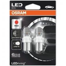 Led lemputės P21W OSRAM RED PREMIUM 12V 2W, 7556R-02B, 4052899367944