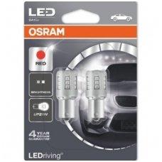 Led lemputės P21W OSRAM RED STANDARD 12V 3W, 7456R-02B, 4052899357976