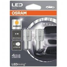 Led lemputės PY21W OSRAM AMBER STANDARD 12V 1W, 7457YE-02B, 4052899357990