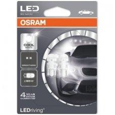 Led lemputės W5W/T10 OSRAM Cool White, 6000K LED 12V 1W, 2880CW-02B, 4052899067820