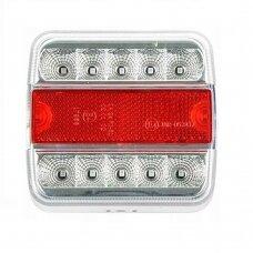 Galinis LED žibintas 4 funkcijų 12V prisukamas 106x98x35
