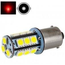 LED P21W BA15S 2w 12v 18smd LED - raudona gabaritų stabdžių lemputė