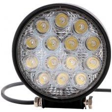 LED plataus švietimo apvalus darbo žibintas 42W, 10-30V, 14 LED, 3060LM