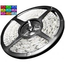 LED RGB juosta 12V 14.4W/m LED5050 SMD hermetiška