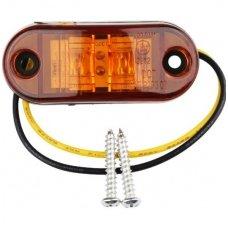 LED šoninis gabaritas, posūkis 12-24V automobiliui, sunkvežimiui, priekabai geltonas 00SM1 E11 0212 DOT SAEP2P307