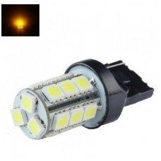 LED W21W / T20 / 7440 - 2,5w 18 smd geltona led dviejų kontaktų automobilinė lemputė