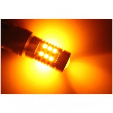 LED 3157 - 6w 42 smd LED keturių kontaktų amerikietiškų automobilių posūkio gabarito/DRL lemputė 6