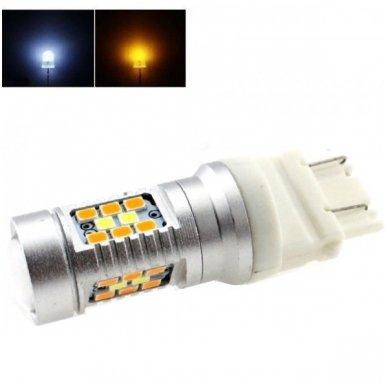 LED 3157 - 6w 42 smd LED keturių kontaktų amerikietiškų automobilių posūkio gabarito/DRL lemputė