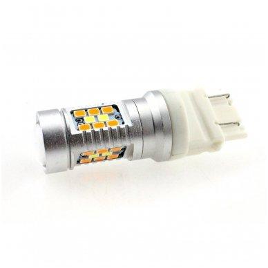 LED 3157 - 6w 42 smd LED keturių kontaktų amerikietiškų automobilių posūkio gabarito/DRL lemputė 2