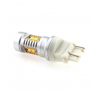 LED 3157 - 6w 42 smd LED keturių kontaktų amerikietiškų automobilių posūkio gabarito/DRL lemputė 4