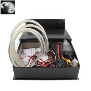 LED 72 SMD Angel Eyes balti šviesos žiedai BMW E46 Compact / E83 / E87 be lešio / E90 be lešio