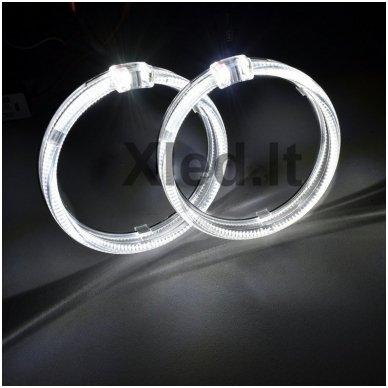 LED Angel Eyes DRL 80 mm žibintų žiedai