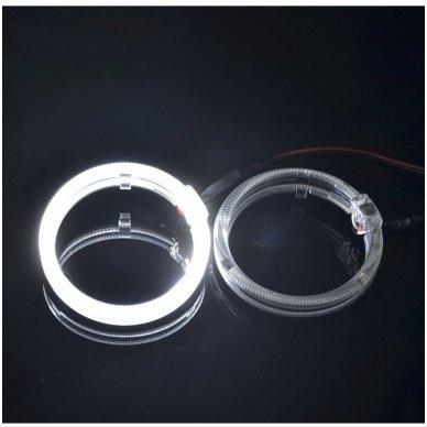 LED Angel Eyes DRL 80 mm žibintų žiedai 10
