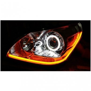 LED Angel Eyes DRL 80 mm žibintų žiedai 7