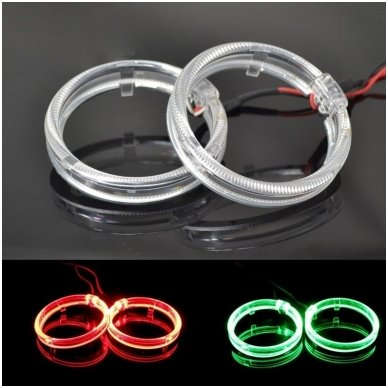 LED Angel Eyes DRL 80 mm žibintų žiedai 2