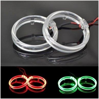 LED Angel Eyes DRL 95 mm žibintų žiedai 2