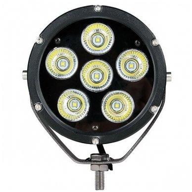 LED apvalus sertifikuotas žibintas 25W 2500LM 12-24V (E13 00 HR PL) FLOOD 2