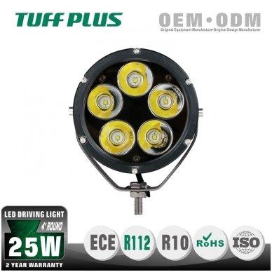 LED apvalus sertifikuotas žibintas 25W 2500LM 12-24V (E13 00 HR PL) SPOT 2