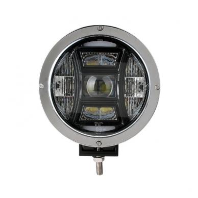 "LED apvalus sertifikuotas žibintas 70W 6500LM 12-24V (E13 HR A PL) COMBO 9"" 11"