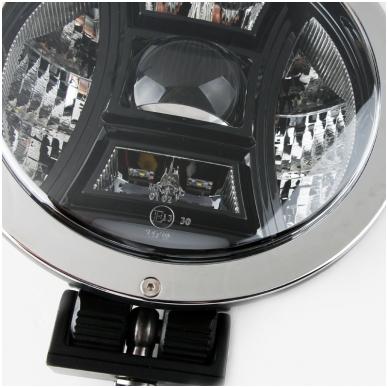 "LED apvalus sertifikuotas žibintas 70W 6500LM 12-24V (E13 HR A PL) COMBO 9"" 3"